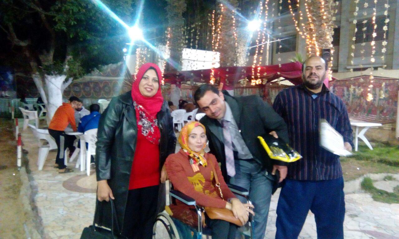 تكريم أبطال متحدي الإعاقة للكرة الطائرة جلوس بمركز شباب قليوب (1)