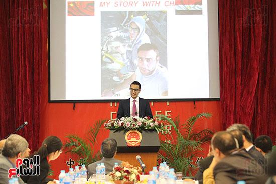 صور الصالون الصينى المنعقد فى السفارة تحت عنوان ذكرياتى مع الصين (41)