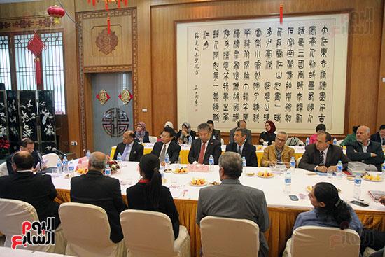 صور الصالون الصينى المنعقد فى السفارة تحت عنوان ذكرياتى مع الصين (52)