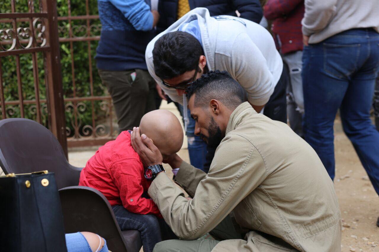 الطفل سراج مع محمد رمضان