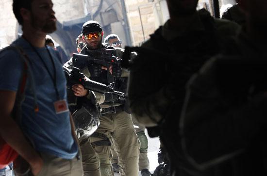 قوات الاحتلال تستعد لمواجهة مسيرات الفلسطينيين