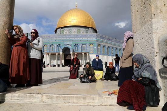 المصلون الفلسطينيون فى المسجد الأقصى