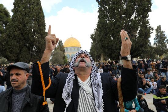 مظاهرة أمام الأقصى ضد قرار ترامب بشأن القدس
