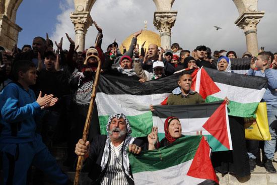 مسيرة فلسطينية ضد قرار ترامب بشأن القدس