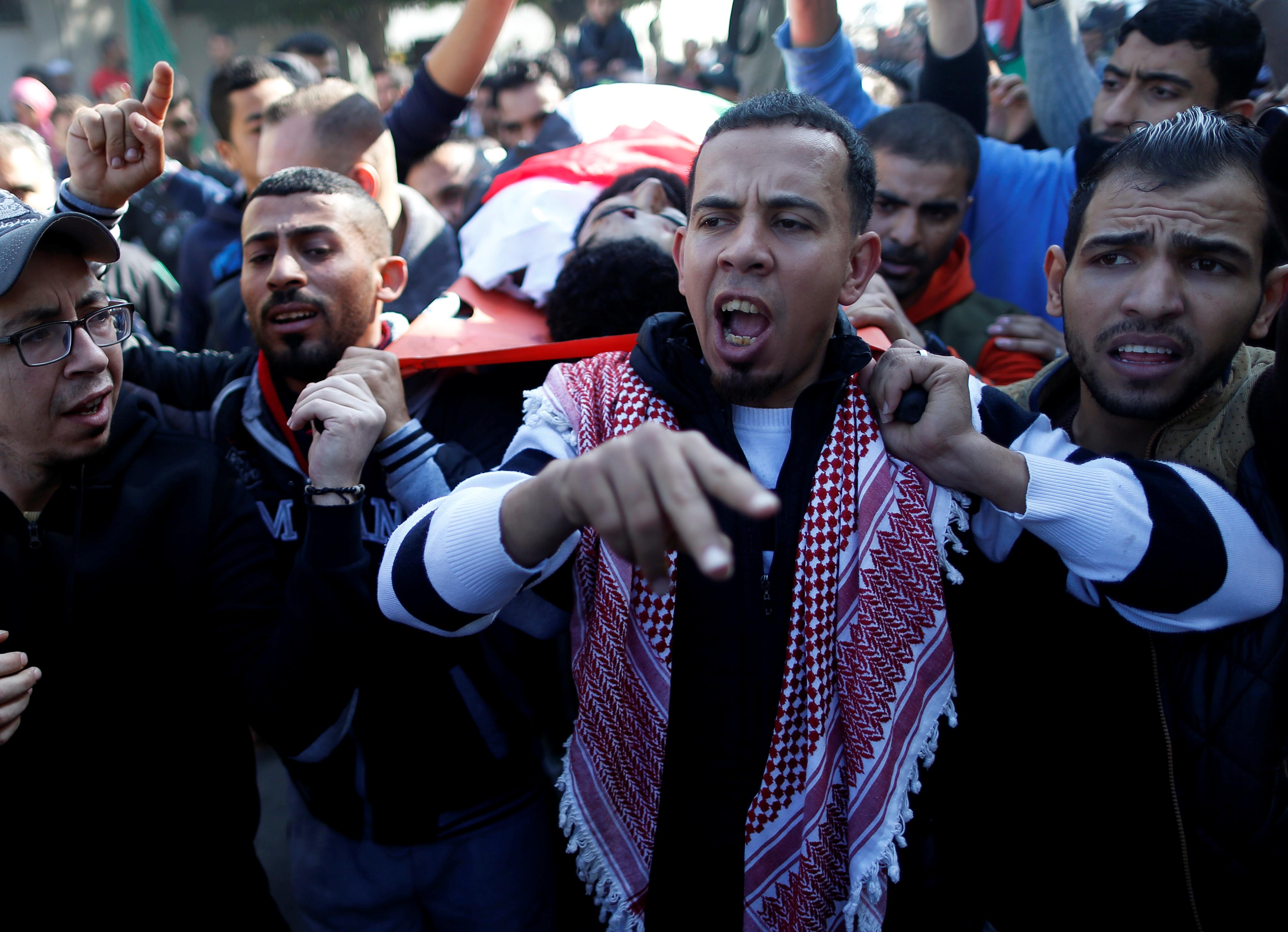 تشييع جثمان الشهيد إبراهيم أبو ثريا