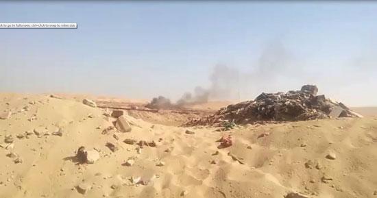 حرق-النفايات-فى-الصحراء-خارج-محطة-النفايات