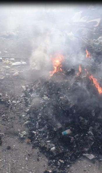 حرق-النفايات-خارج-المحرقة