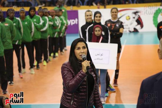 افتتاح البطولة العربية لأندية سيدات الطائرة (51)