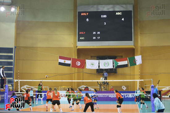 افتتاح البطولة العربية لأندية سيدات الطائرة (8)