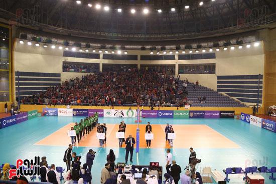 افتتاح البطولة العربية لأندية سيدات الطائرة (1)
