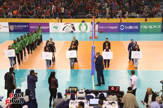 افتتاح البطولة العربية لأندية سيدات الطائرة (25)