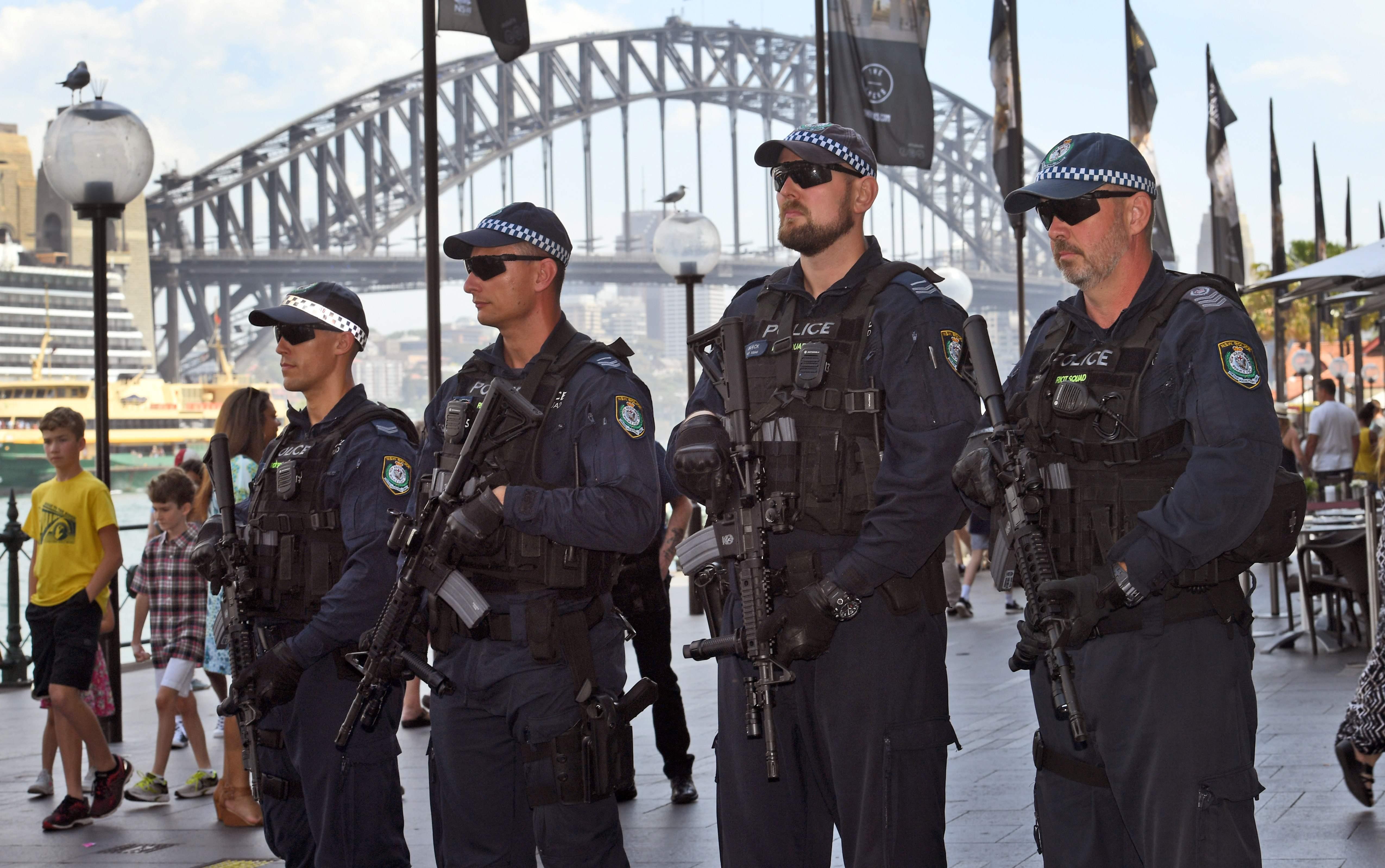 الشرطة في شوارع سيدني