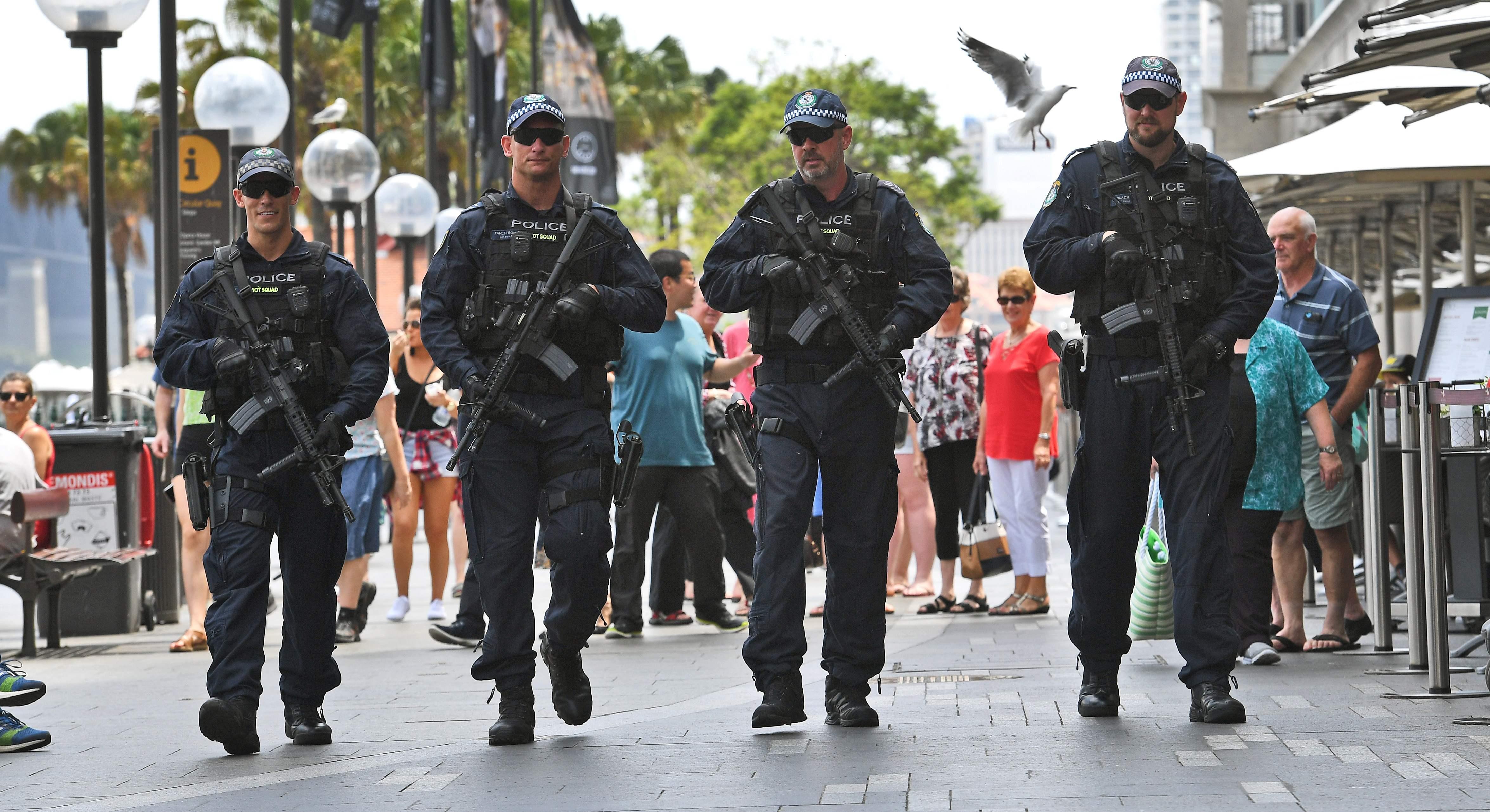 انتشار الشرطة في شوارع سيدنى