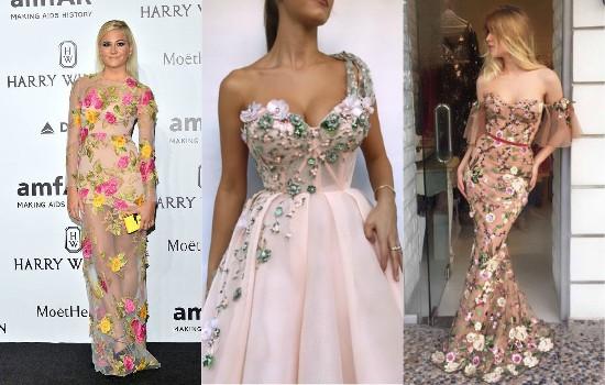 الفساتين المطرزة