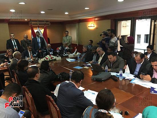 صور مؤتمر المراسلين الأجانب المنعقد بمقر الهيئة العامة للاستعلامات (1)