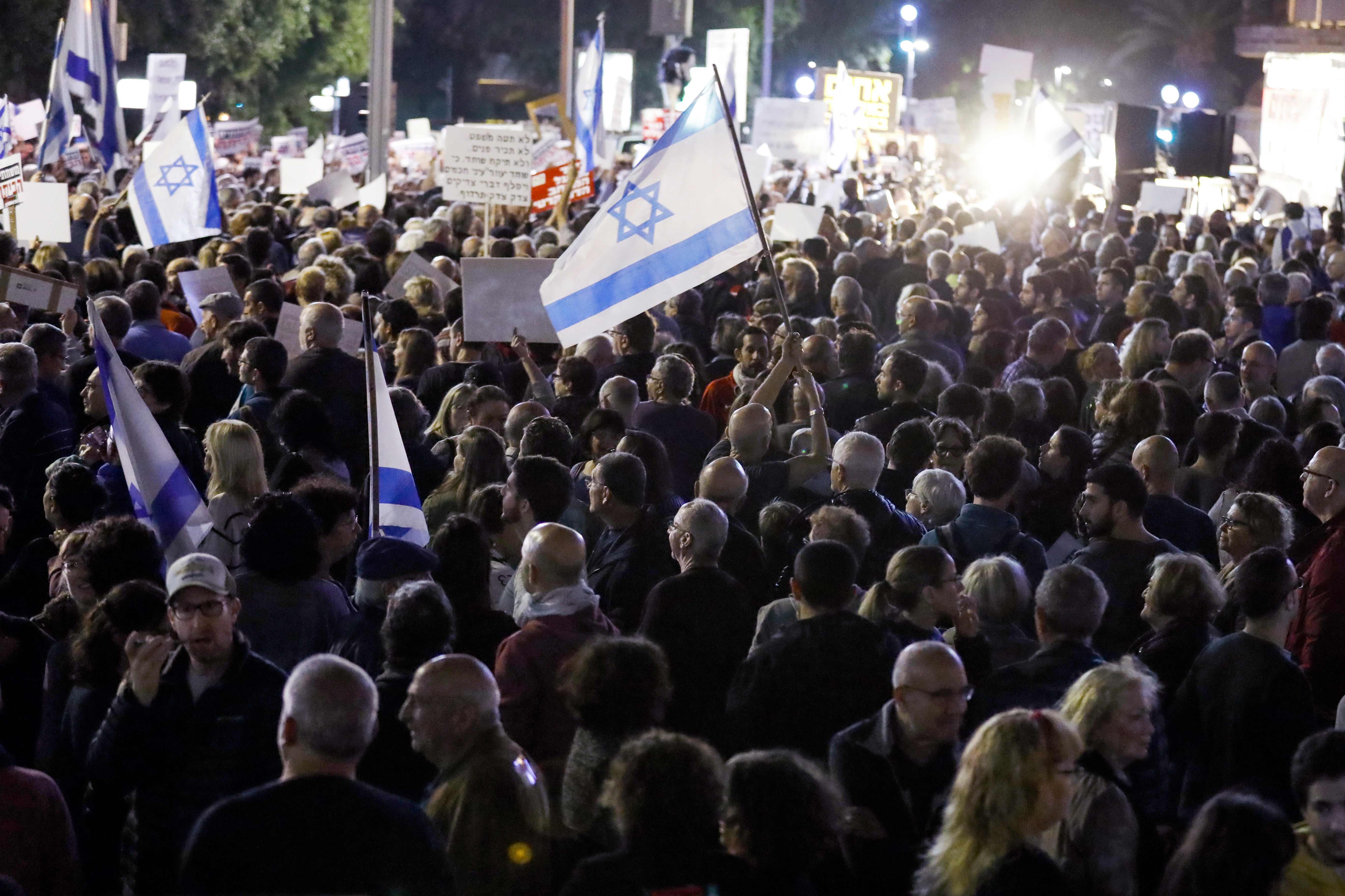 مظاهرات فى اسرائيل ضد نتنياهو