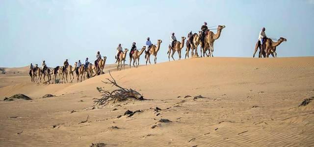 7- عشرات المتسابقين فى صحراء  سرابيوم