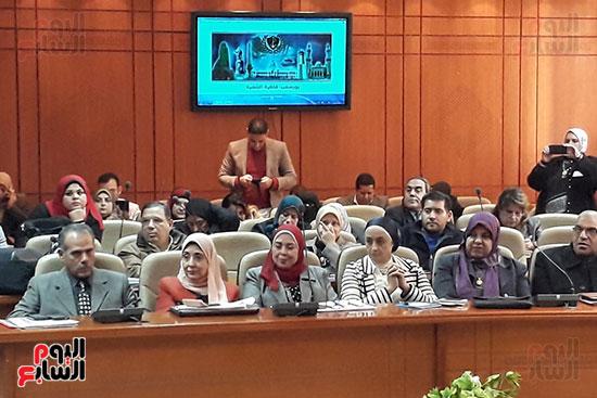 وفد وزارة الصحة خلال اجتماع الوزير