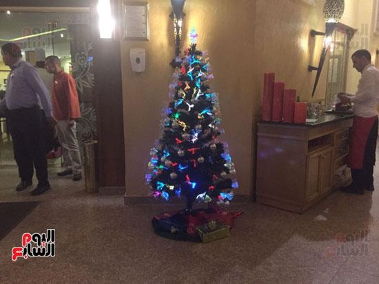 جانب من استعدادات الفنادق للكريسماس