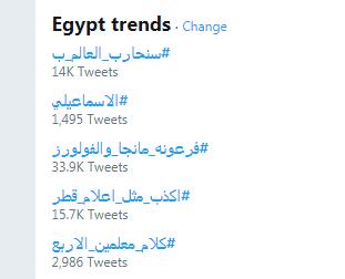 قائمة تريندات مصر