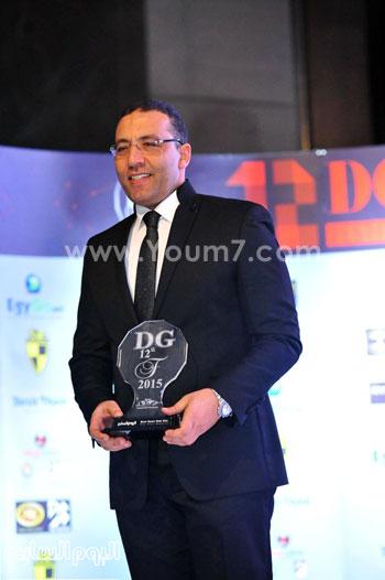الكاتب الصحفى خالد صلاح رئيس مجلس إدارة وتحرير اليوم السابع يتسلم جائزة ديرجيست 2015