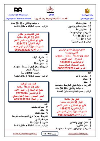 قائمة وزارة القوى العاملة بـ 5342 فرصة عمل حتى نهاية يناير (13)