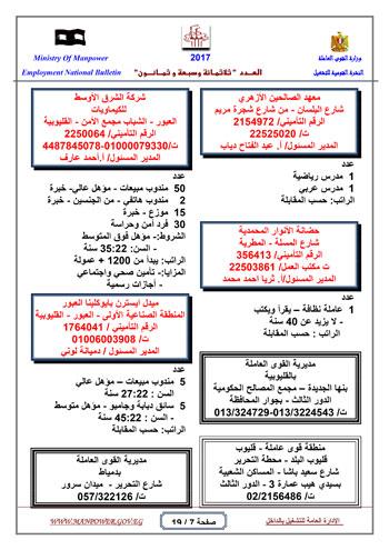 قائمة وزارة القوى العاملة بـ 5342 فرصة عمل حتى نهاية يناير (7)