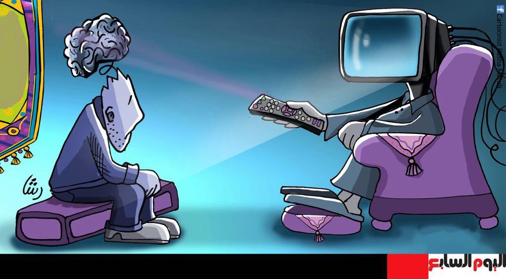 حال الدنيا.. نافذة على العالم بالكاريكاتير للفنانة رشا مهدى  (4)