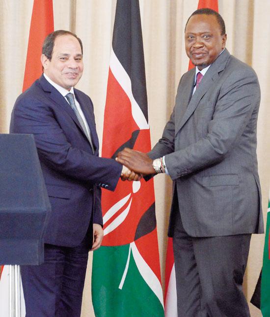 الرئيس-المصرى-عبد-الفتاح-السيسى-والرئيس-الكينى-اوهورو-كينياتا--كينيا18-2-2017
