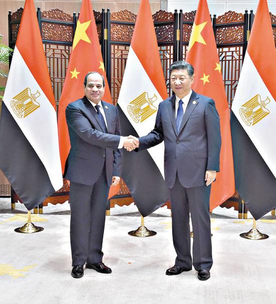 السيد-الرئيس-يلتقى-الرئيس-الصينى-ويعقد-معه-جلسة-مباحثات-4-10-2017