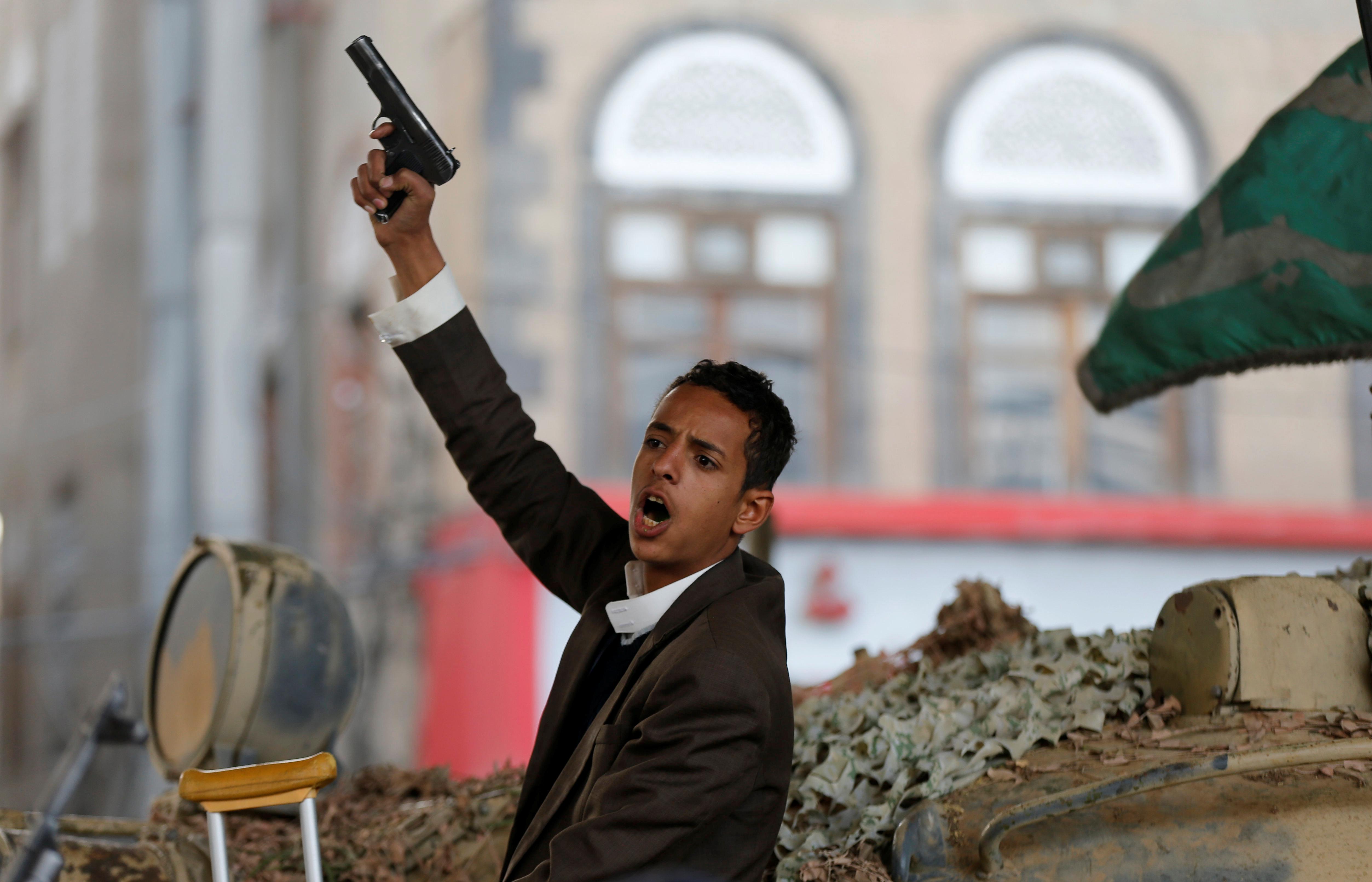 مسلح حوثى بصنعاء