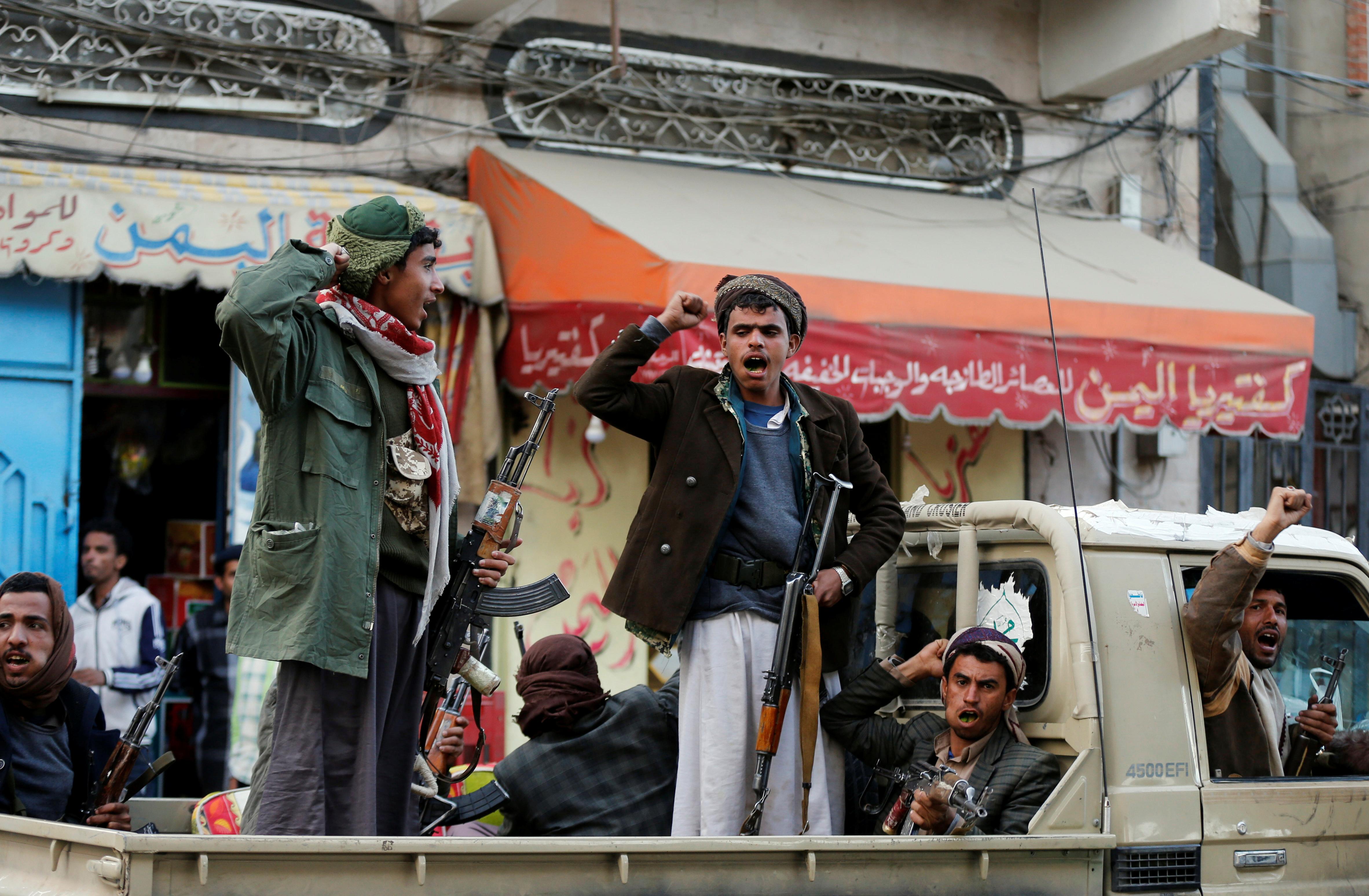 جانب من تواجد ميليشيات الحوثيين