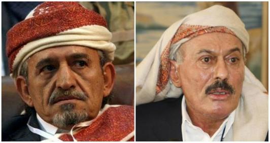 على عبدالله صالح وصادق الأحمر