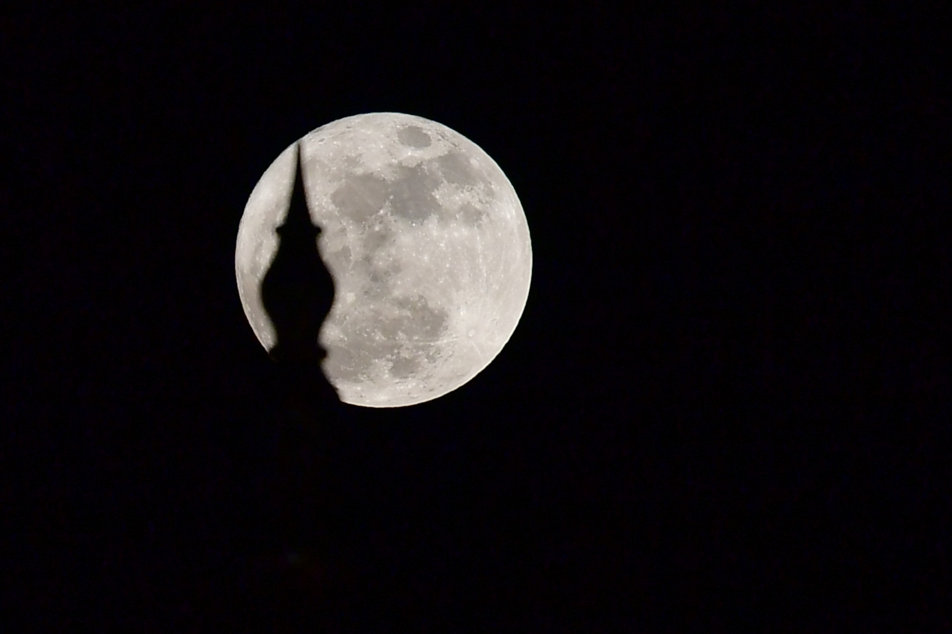 القمر العملاق فى سماء الإمارات