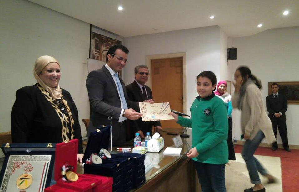 المجلس الأعلى للثقافة يكرم طلاب المدرسة  الفائزة بمسابقة تحدى  (5)