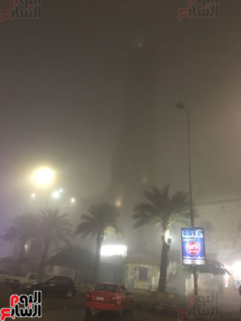 الشبورة تغطى سماء القاهرة  (9)