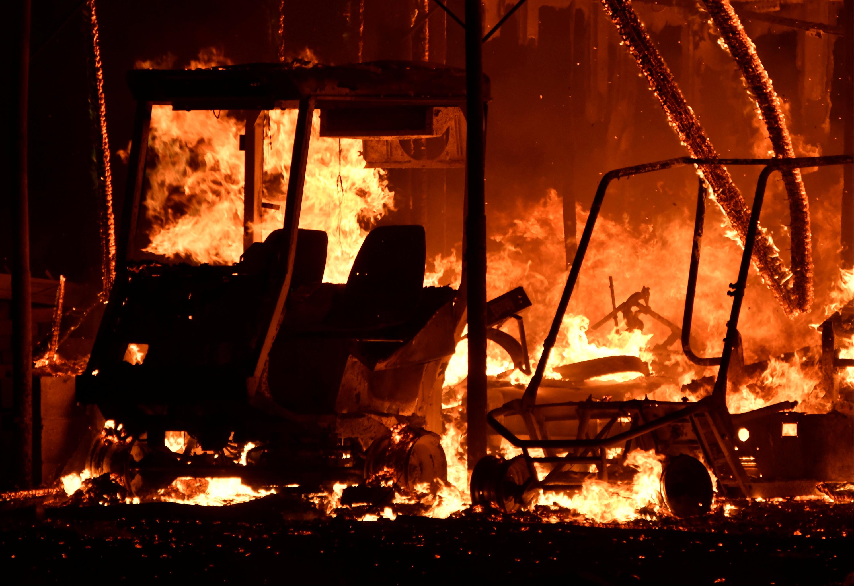 حريق بالمركبات