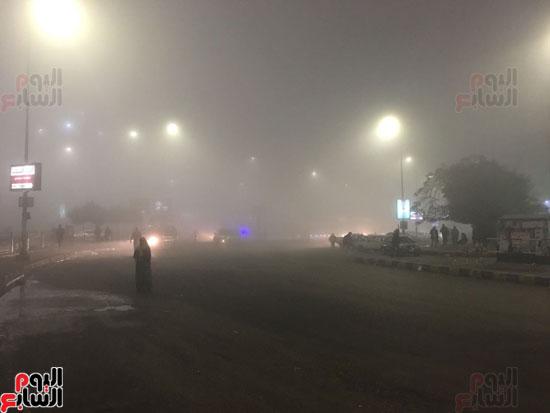 الشبورة تغطى سماء القاهرة  (7)