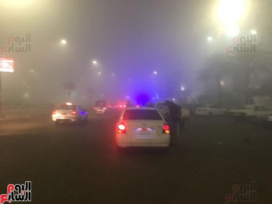 الشبورة تغطى سماء القاهرة  (6)