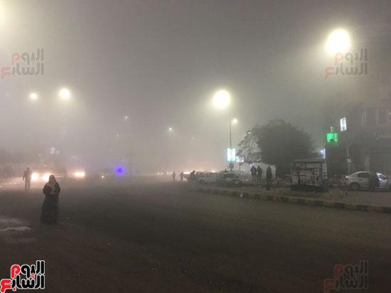 الشبورة تغطى سماء القاهرة  (2)