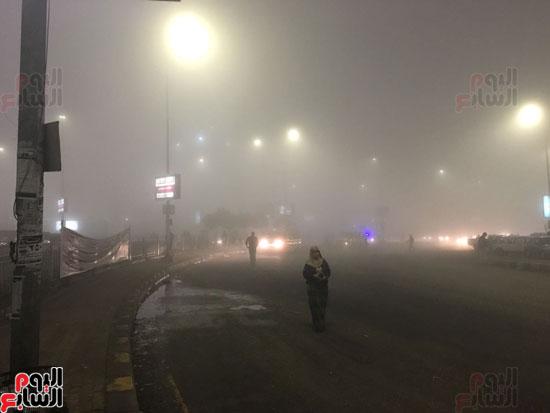 الشبورة تغطى سماء القاهرة  (3)