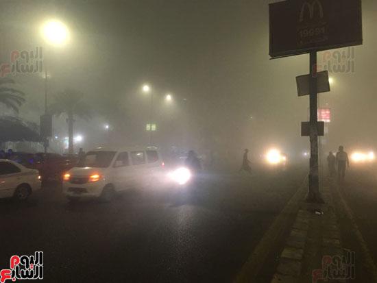 الشبورة تغطى سماء القاهرة  (8)