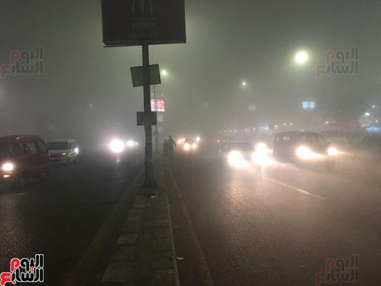 الشبورة تغطى سماء القاهرة  (5)