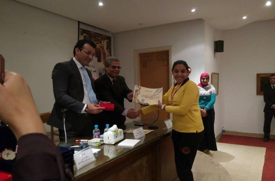 المجلس الأعلى للثقافة يكرم طلاب المدرسة  الفائزة بمسابقة تحدى  (1)