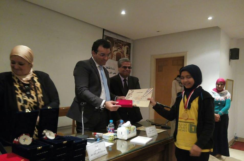 المجلس الأعلى للثقافة يكرم طلاب المدرسة  الفائزة بمسابقة تحدى  (2)
