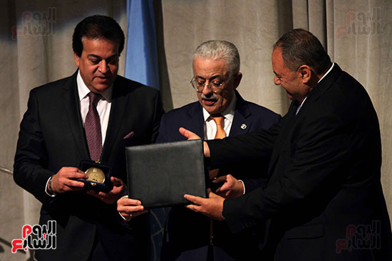 اليونسكو تكرم عددا من الوزراء والعاملين  (4)
