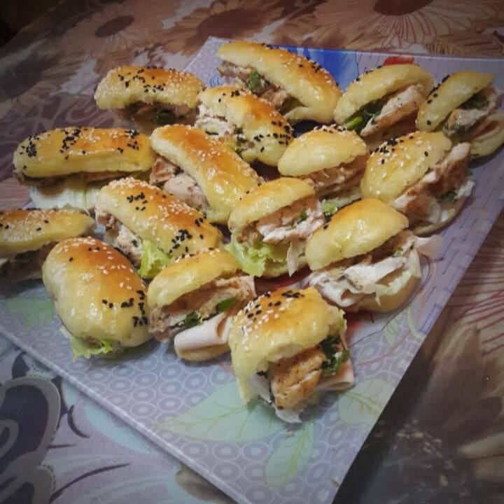 طريقة عمل مينى ساندوتش (2)