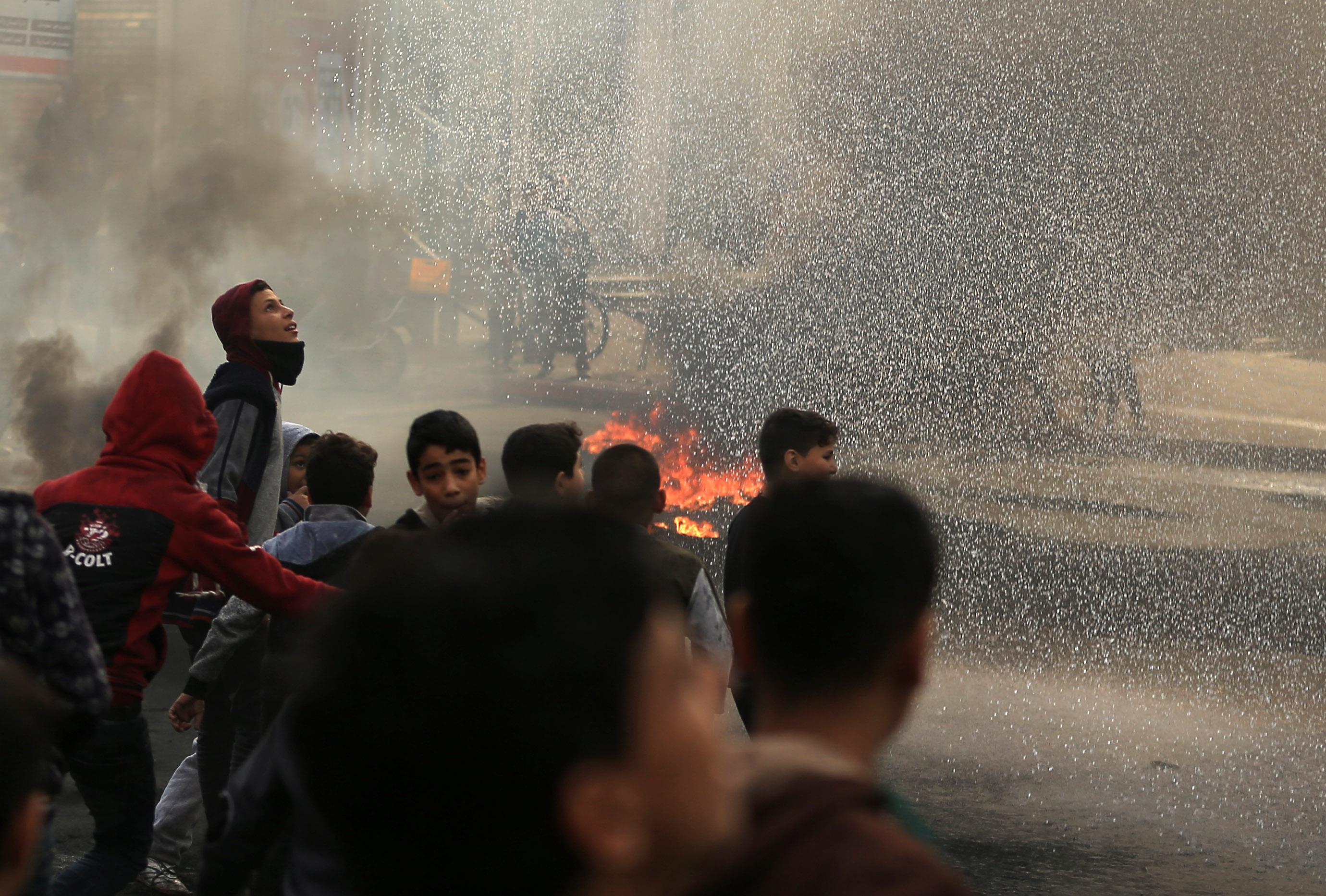 مظاهرات فى غزة