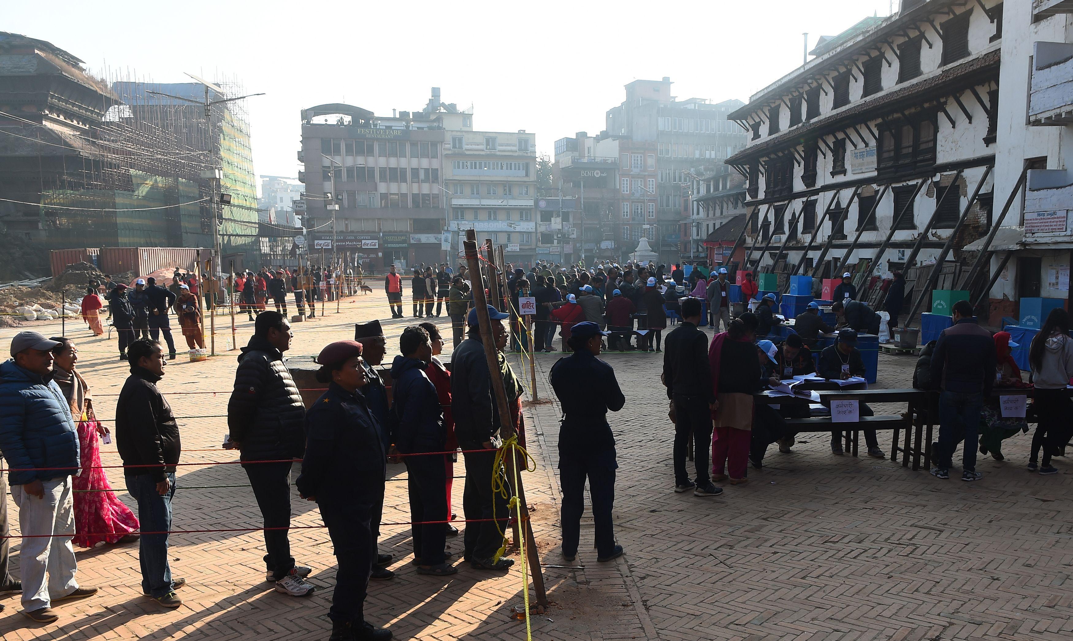 طوابير الانتخابات فى نيبال