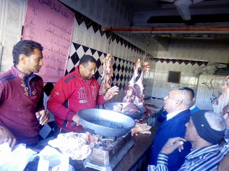 المحافظ يتابع جودة اللحوم